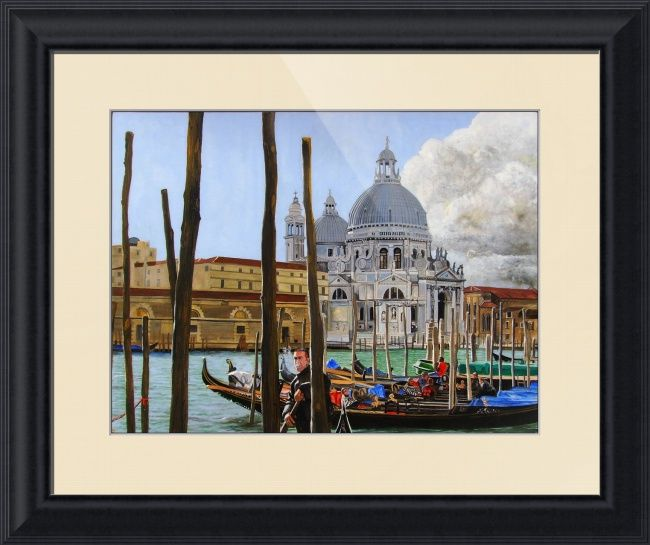 """""""Venezia"""" by Matthew Bates, Firenze, Italy // Matthew Bates sometimes likes to make an acrylic painting and 'Venezia' is perhaps his finest.When you buy this or any other of my Imagekind(TM) prints, send them to me and I will personally sign the print and send it back to you with a certificate of authentication which wi... // Imagekind.com -- Buy stunning fine art prints, framed prints and canvas prints directly from independent working artists and photographers."""