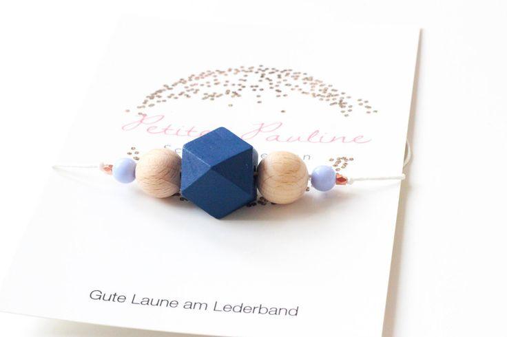 Halskette *Oceangirl* : Blau und Kupfer von Petite Pauline auf DaWanda.com