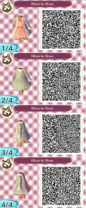 "animalsandmacarons: "" This cute QR code gives me life I swear! It's my favorite print (Blue and Pink Floral Over coat) with a nice peach colored dress underneath. Be sure to join my ACNL Give away! You could win FREE ITEMS FOR YOUR GAME! Give away is..."