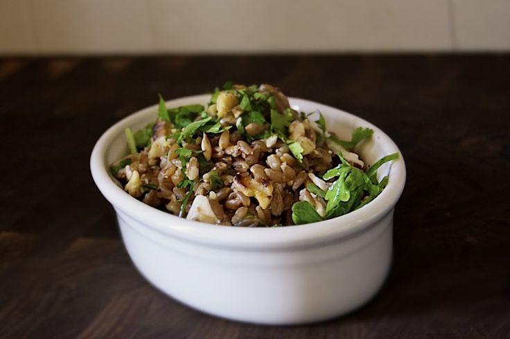 Farro Salad with Walnuts & Cilantro | Yummy | Pinterest