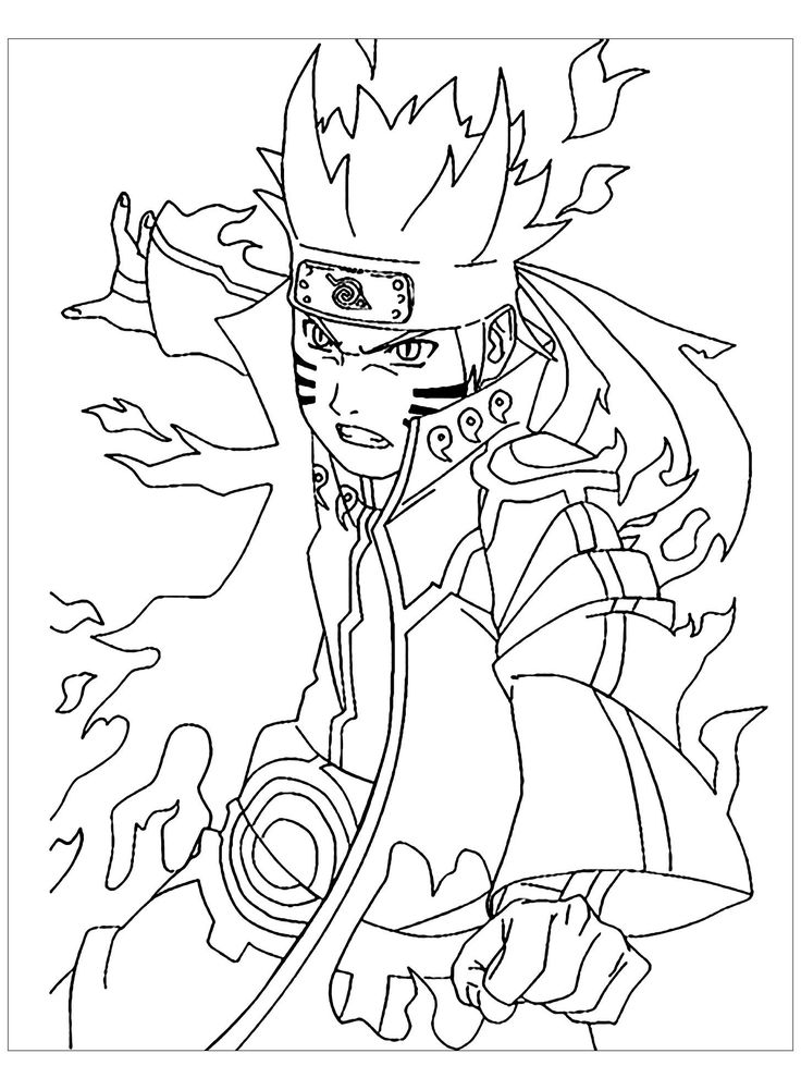 Coloring Pages for toddlers to Print Naruto to Naruto Kids