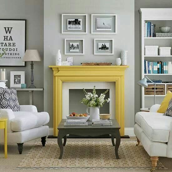 Grey living room - w/o yellow, maybe more blue