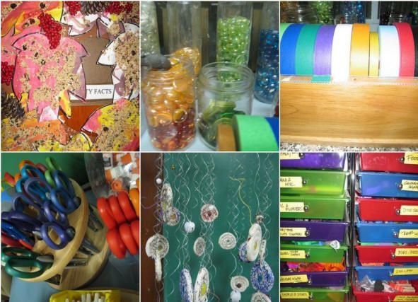 The Learningden Preschool Reggio Emilia - Glass Marbles in Jars, Ribbons, Fish Art, Themes (environmental)