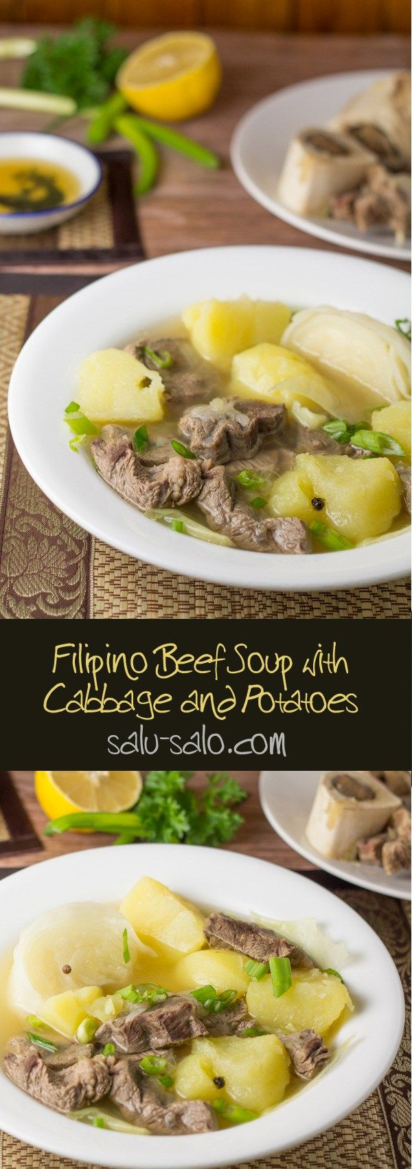 Nilagang Baka Beef Soup With Cabbage And Potatoes