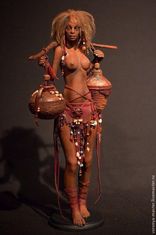 Коллекционные куклы ручной работы. Ярмарка Мастеров - ручная работа. Купить Мулатка. Handmade. Бордовый, экзотический подарок, натуральная кожа