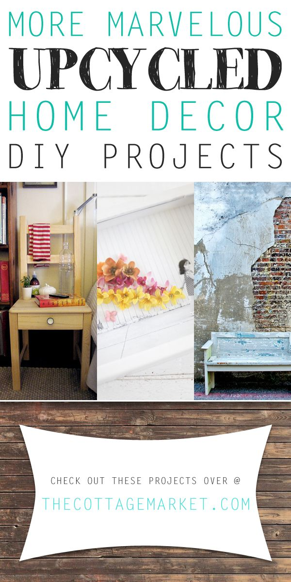 849 best junk repurposed images on pinterest for Diy upcycling projects