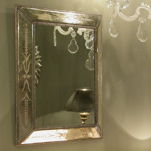 Miroir rectangulaire baroque venise chehoma mirroir for Miroir baroque rectangulaire