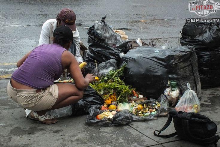 ¡DESGARRADOR! Madres con niños hacen cola para sacar frutas de camión de basura en Guarenas - http://wp.me/p7GFvM-DaZ