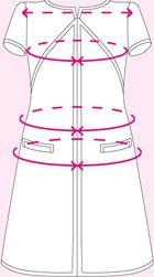 image patron gratuit robe style courrege