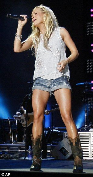 My cowboy Boots & Shorts...favorite summer look. It's Carrie Underwood!