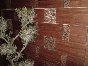 Cladding with bamboo panels - see examples ...