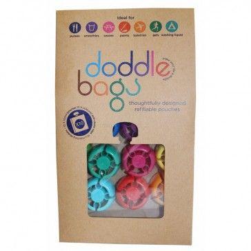 DoddleBag - Refill pose på 100ml - Madpose, Sport, Rejse (10-pak)