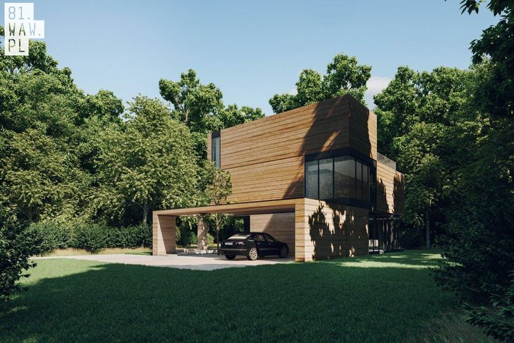 Dom Yenga z drewnianych klocków - PLN Design
