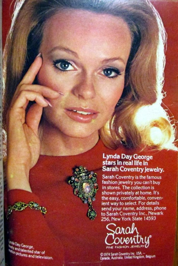 Lynda Day George Magazine Ad Vintage Hollywood Actresses Sarah