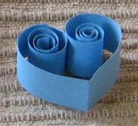 Quilling szív - Bálint nap - Valentin nap - Valentin day - papír - saját készítésű - DIY