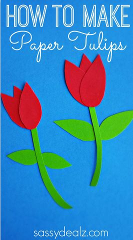 Great spring craft for kids! Simple Paper Tulips