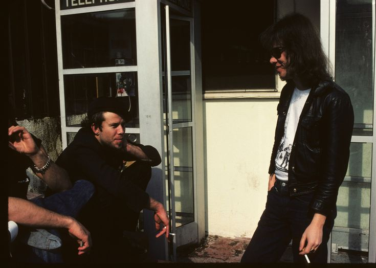 Tom Waits and Tommy Ramone by Brad Elterman