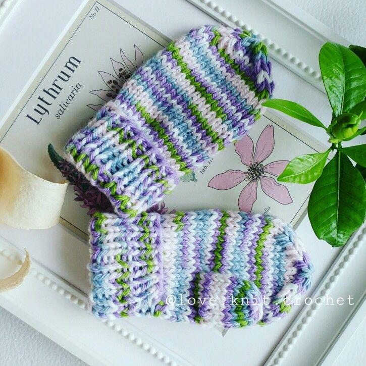 Knitted mittens. Örgu bebek eldiveni. Вязаные рукавички.
