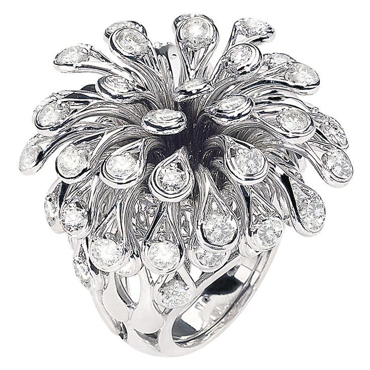Excentriques / Collections / Jewelry  / Dior  FEU D'ARTIFICE Ring in 18K white gold and diamonds