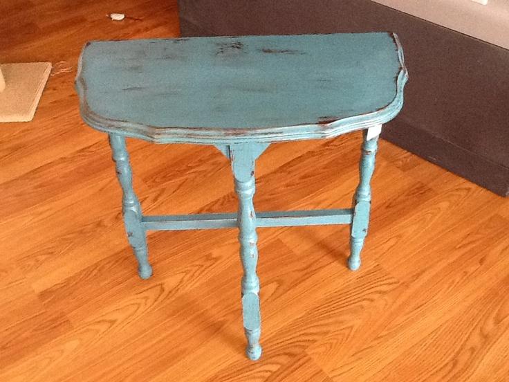 Refurbished antique table