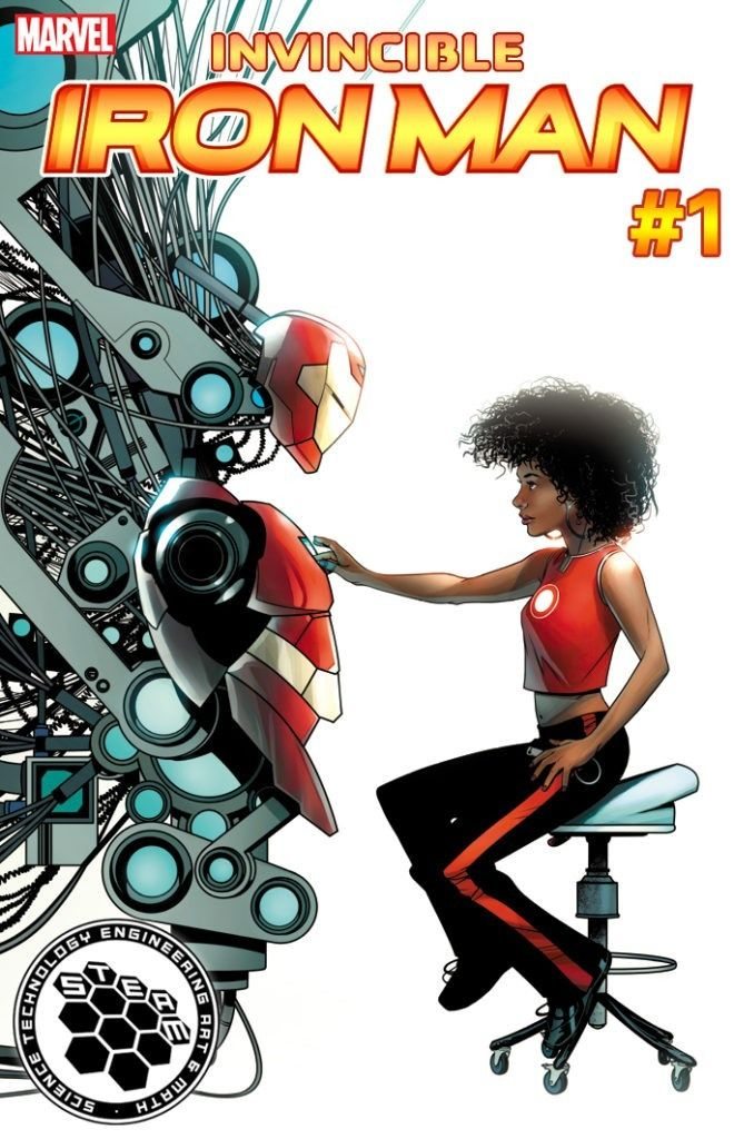 Marvel's new female Iron Man, Riri Williams now has her own alias to go by - Ironheart. Revealed by writer Brian Michael Bendis to Wired, Ironheart will gain her name within the pages of the first issue of the relaunched Invincible Iron Man.
