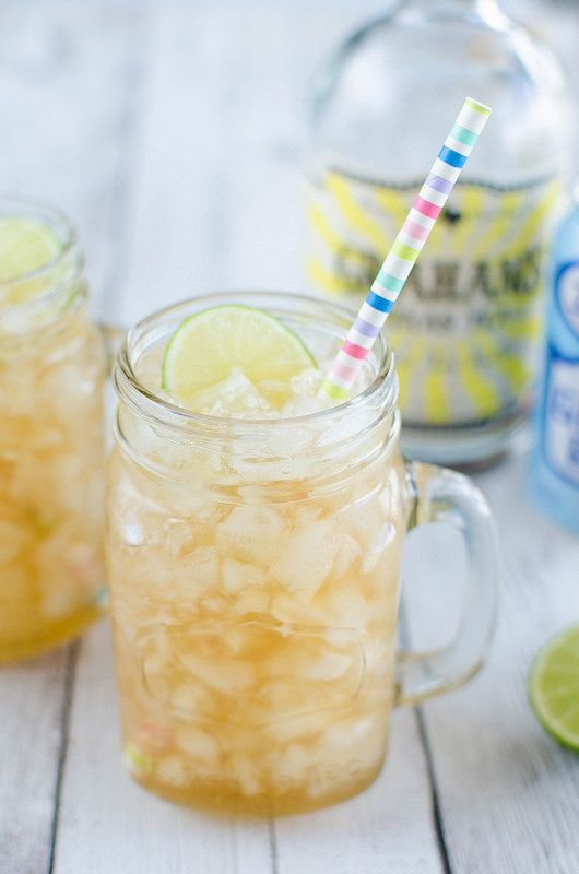Sweet Tea Mules - a southern twist on the classic mule. Sweet tea vodka, ginger beer, and lime juice! So easy and so delicious!