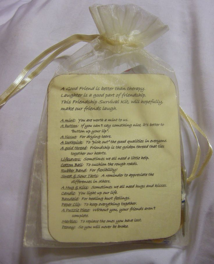Ladies Retreat Goodie Bags | Small friendship bag was placed on each person's pillow