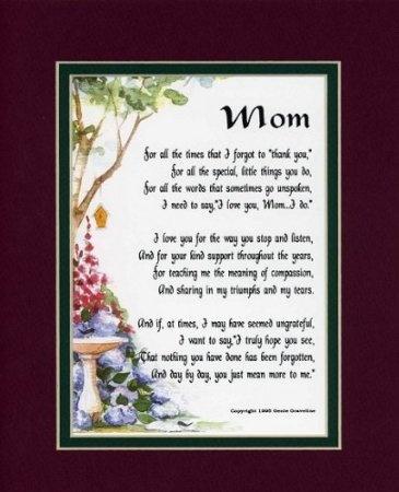 Sentimental Christmas Gift For Mom Beautifully Framed