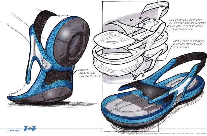 rendering for shoe design.