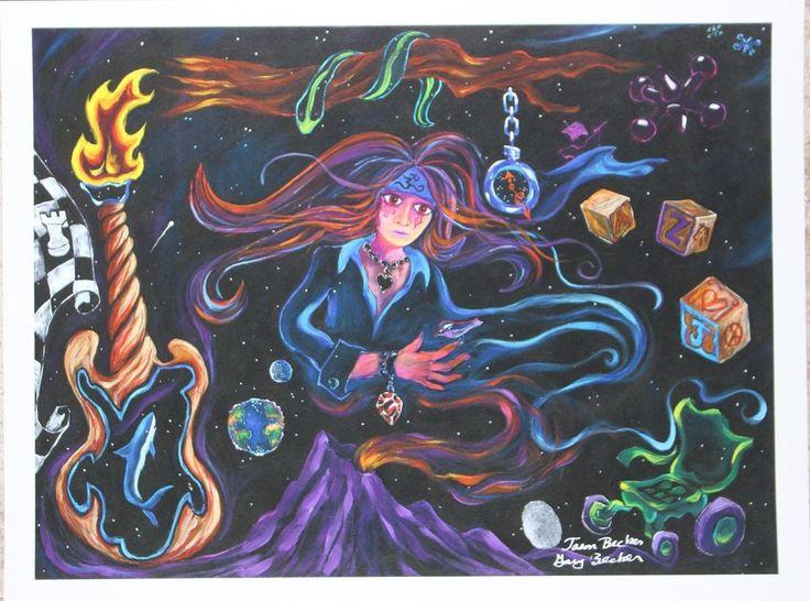 SIGNED by Jason Becker and Gary Becker Art Print SPIRIT OF JASON (12x9 Inches)    eBay