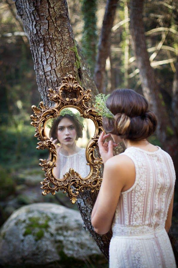 Unique bridal portrait idea