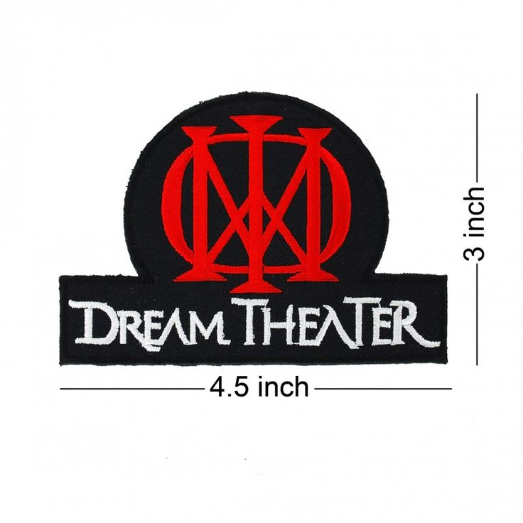DREAM THEATER Rock Band logo embroidered patch ($2.99). Come with glue paper on back side. Easy to use just iron on patch. work with clothing, t shirt, backpack, jeans. Rockabilly fashion, punk fashion, rock wear to concert is cool!!. Member is mike portnoy,chris collins,john petrucci,mike mangini,jordan rudess,james labrie,kevin moore,john myung,derek sherinian. Famous studio Album is dream theater, tba, awake, train of thought, octavarium, images and words.