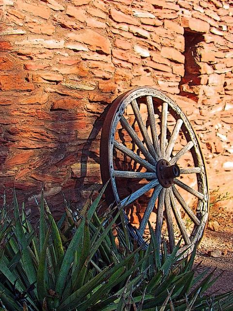 The Wheel by meezerlover, via Flickr  Beautiful Rock Wall.