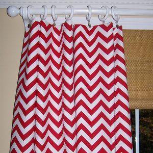 Pink Chevron Shower Curtain