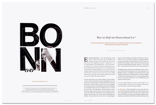 Bonn magazine spread