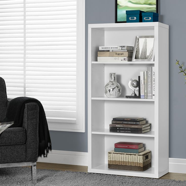 Mors Modern Bookcase   Bookshelves In White   Office Furniture Vancouver. 9 best Top Selling Bookcases images on Pinterest