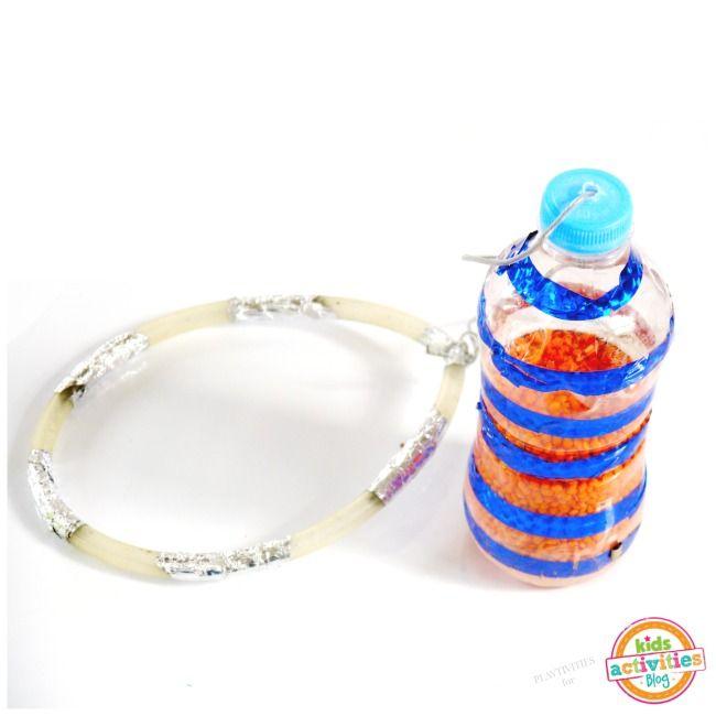 Fußkreisel selber bauen - aus einer Flasche, einem Seil und einem Stück Gartenschlauch
