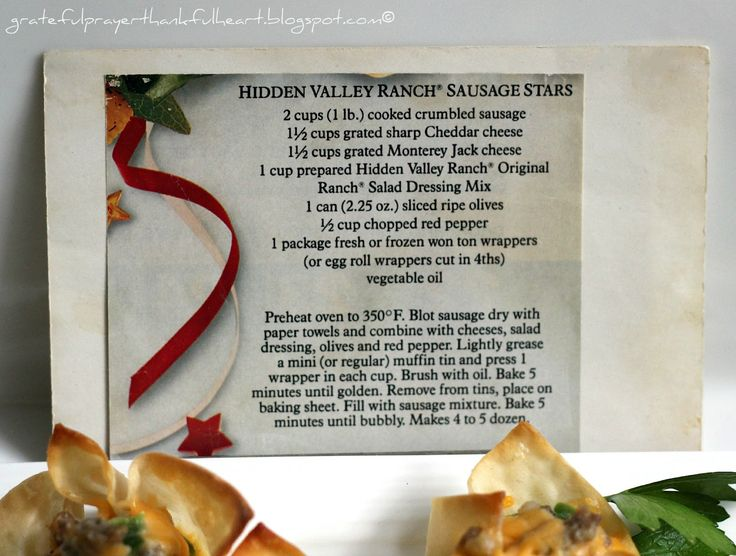 With a Grateful Prayer and a Thankful Heart: Hidden Valley Ranch Sausage Stars
