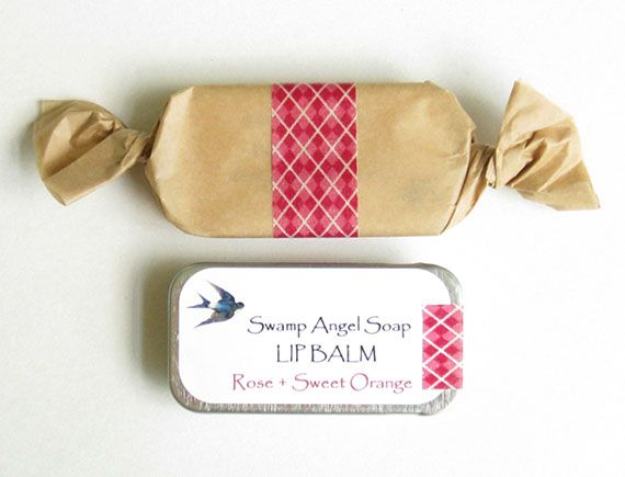 Charlotte of Swamp Angel Soap  curates her item photos to fit easily with others in collections, hopefully even in a collection on Etsy's front page. She focuses on a using a consistent background, and includes her branded packaging in many of her photos.