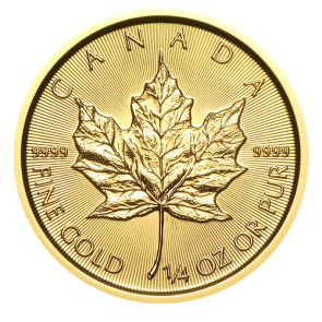 2015 Canadian Gold Maple Leaf Coins - 1/4 oz.