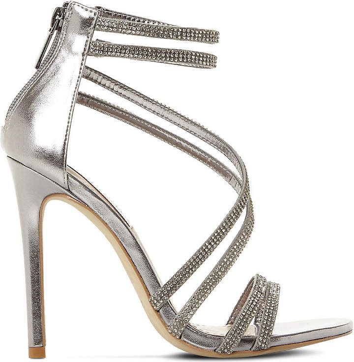 Pewter Leather High Heels