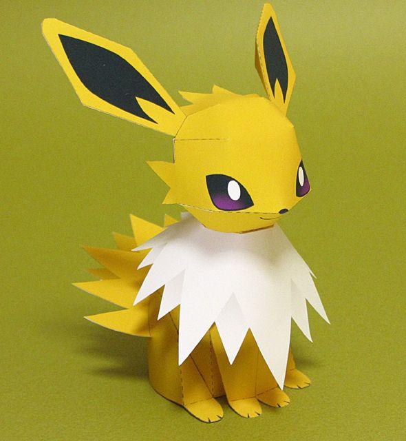 Pokemon Jolteon Paper Model