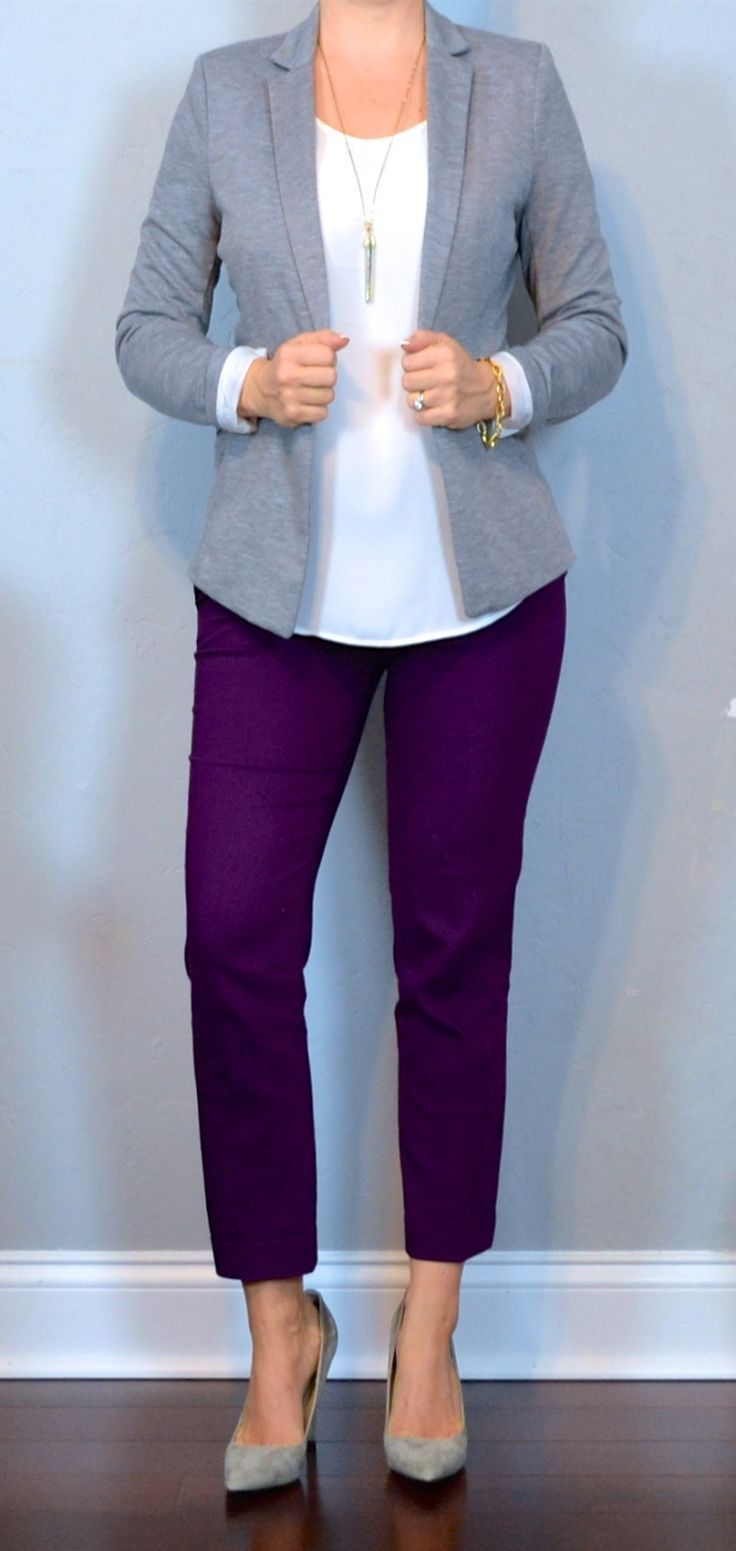 Best 25  Purple pants outfit ideas on Pinterest | Plum pants ...