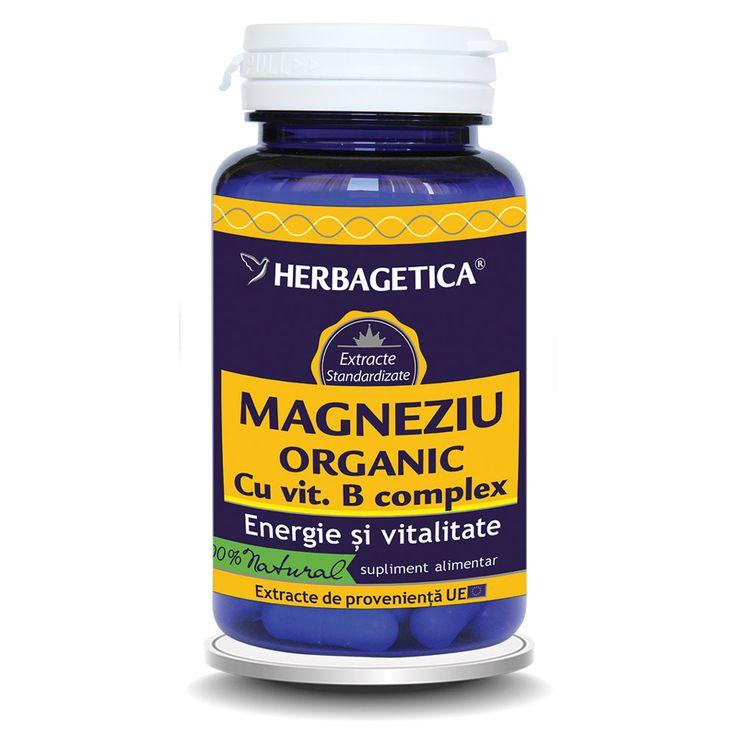 Magneziul organic favorizează asimilarea calciului si vitaminizarea organismului cu vitaminele B, normalizeaza glicemia, antispastic,antistres natural