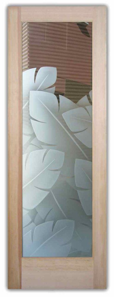Banana Leaves 2D Etched - Glass Doors