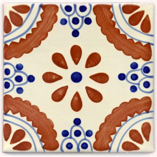Handbemalte Fliese 15x15 Madrid Azul TC kaufen im Bunte Fliesen Shop.