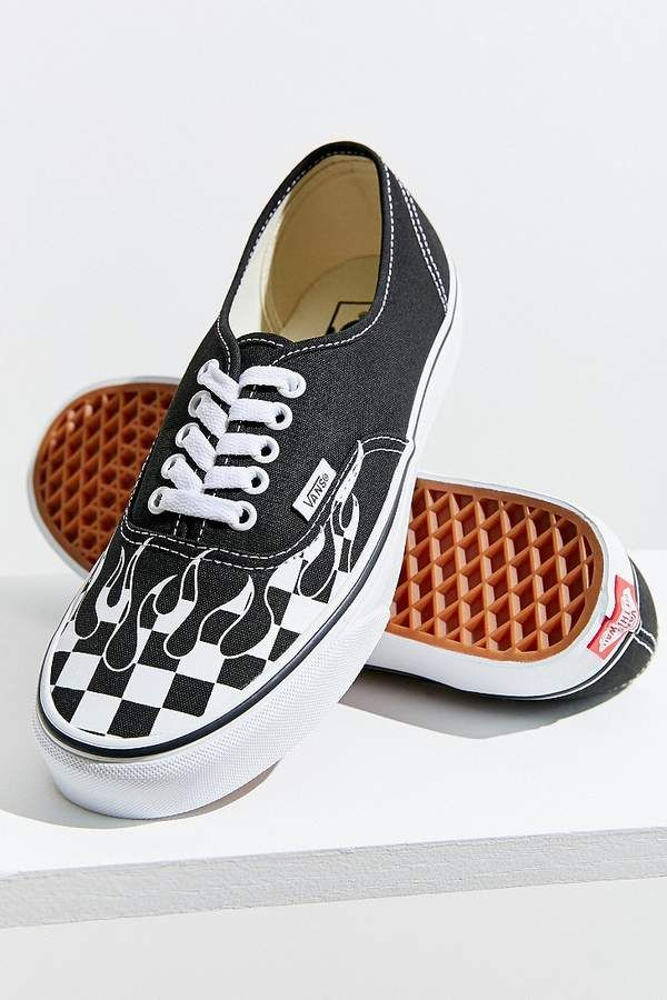 f2652a01fe86 Authentic Checkerboard Flame Sneaker #checkerboard#print#canvas ...