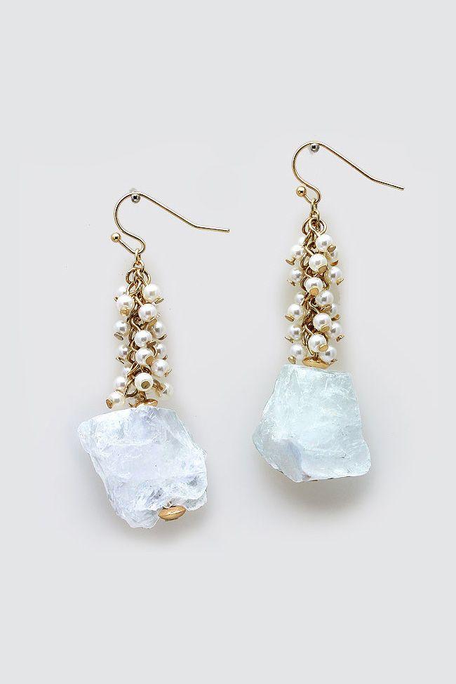 Billie Earrings in Sugared Quartz//