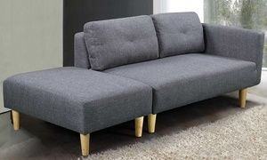 Groupon - Cavendish Two-Seater Sofa with Footstool in Choice of Colour. Groupon deal price: £239