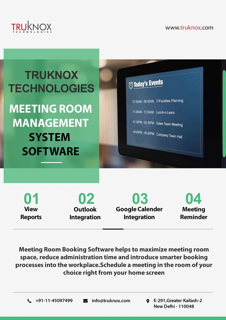 Meeting room booking system helps you to maximize your